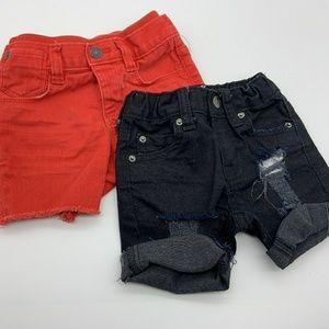 Cat & Jack & Gap Baby Shorts Red Black Sz: 6-12M